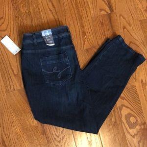 Cj Banks straight leg jeans size 18W petite new